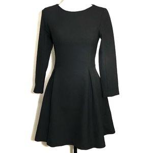 Zara Women Black Long Sleeve Dress
